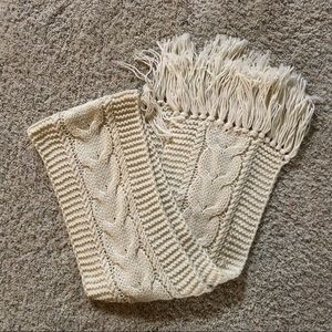 """72"""" Off White Knit Scarf"""